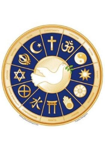 Yogi & Yogini naturals Raamsticker 12 Religions