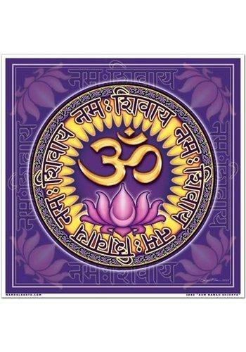 Yogi & Yogini naturals Raamsticker vierkant Aum Namah Shivaya