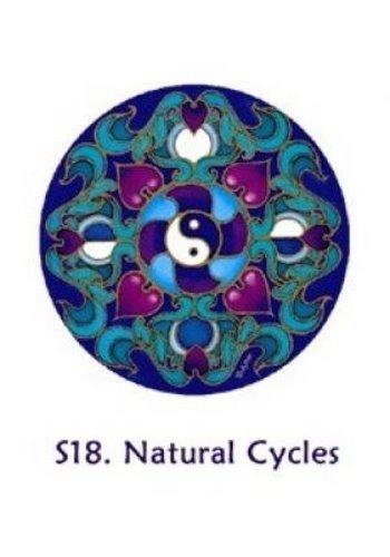 Yogi & Yogini naturals Raamsticker maancyclus en yinyang