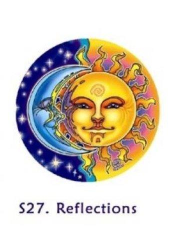Yogi & Yogini naturals Raamsticker zon en maan (10,5 cm)