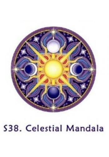 Yogi & Yogini naturals Raamsticker hemelse mandala (10,5 cm)