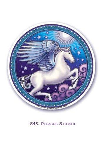 Yogi & Yogini naturals Raamsticker Pegasus