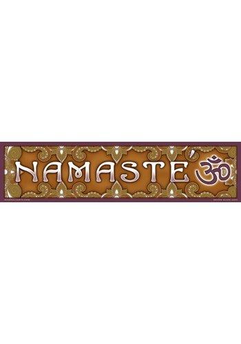 Yogi & Yogini naturals Bumpersticker Namaste