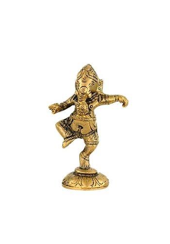 Yogi & Yogini naturals Ganesha dansend messing (10 cm)