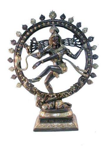 Yogi & Yogini naturals Shiva Nataraja messing 2-kleurig (83 cm)