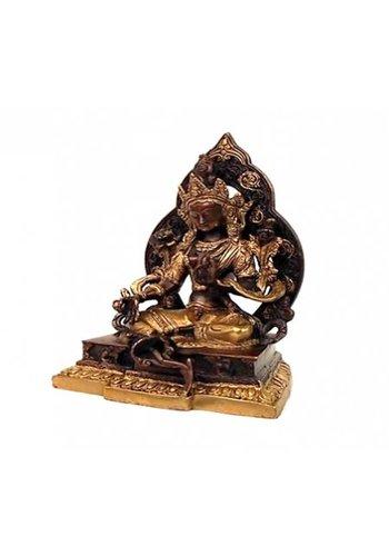 Yogi & Yogini naturals Groene Tara met aura brons/goudkleurig (22 cm)