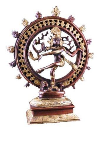 Yogi & Yogini naturals Shiva Nataraj messing 2-kleurig (20cm )