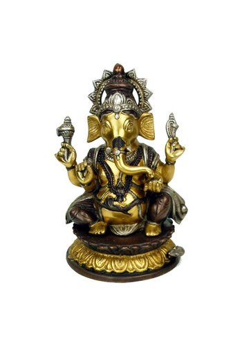 Yogi & Yogini naturals Ganesha messing 2-kleurig (26 cm)