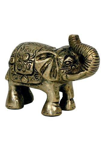 Yogi & Yogini naturals Minibeeldje olifant messing (7x7.5 cm)