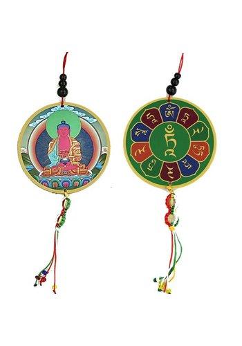 Yogi & Yogini naturals Auto- of raamhanger Amitabha & dorje