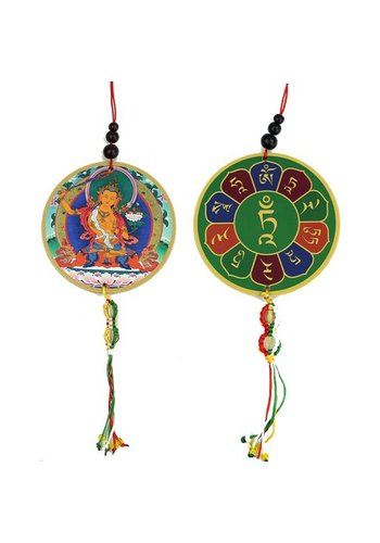 Yogi & Yogini naturals Auto- of raamhanger Manjushri & dorje