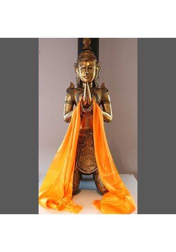 Yogi & Yogini naturals Tibetaanse Katha oranje (±220x48 cm)