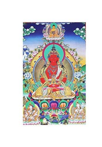 Yogi & Yogini naturals Thangka reproductie - Amythayus - lang leven