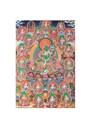 Yogi & Yogini naturals Thangka reproductie - 21 Tara's