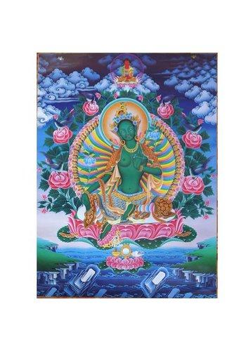 Yogi & Yogini naturals Thangka reproductie - Groene Tara