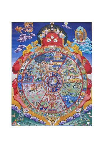 Yogi & Yogini naturals Thangka reproductie - Wiel van het Leven