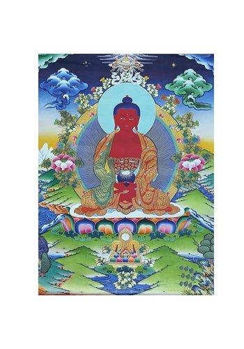 Yogi & Yogini naturals Thangka reproductie - Amithaba