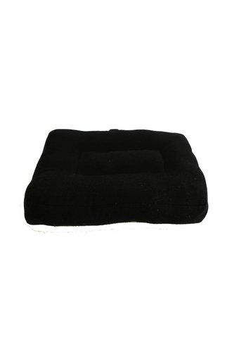 Yogi & Yogini naturals Meditatiekussen zwart kind of reis (23x18x4 cm)
