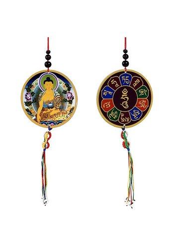 Yogi & Yogini naturals Auto- of raamhanger Boeddha & dorje