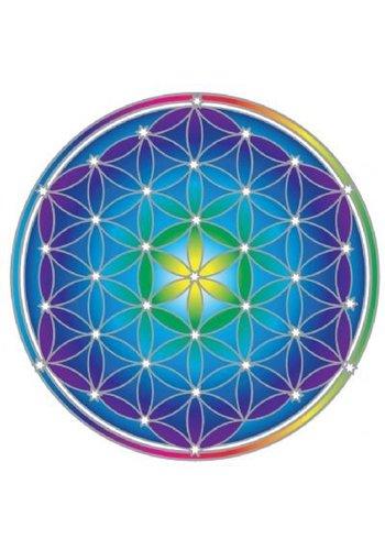 "Yogi & Yogini naturals Raamsticker ""Flower of Life new"" (14 cm)"