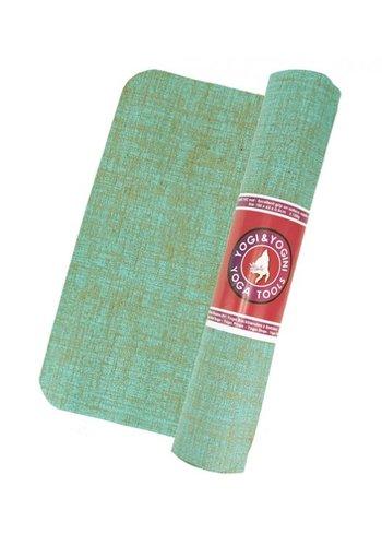 Yogi & Yogini naturals Yogamat jute mintgroen (5 mm)