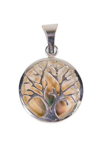 Yogi & Yogini naturals Hanger Tree of Life en Operculum 925 zilver (±30x18 mm)