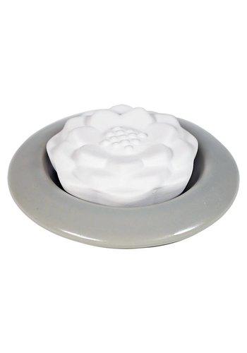 Yogi & Yogini naturals Lotus geursteen grijs (7 cm)