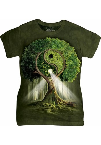 The Mountain Artwear Ladies T-Shirt Mountain Artwear Ying Yang Tree groen