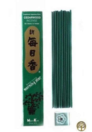 Nippon Kodo Wierook Morning Star cederhout (20 gram)