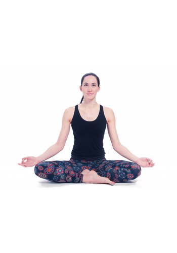 Yogi & Yogini naturals Yoga legging zwart met Mandala print biologisch (S/M/L)