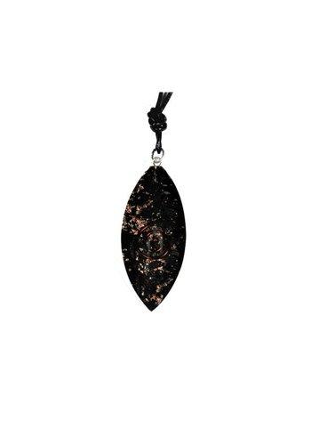 Zen sieraden Shungiet hanger ovaal