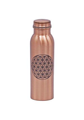 Yogi & Yogini naturals Koperen fles Bloem des Levens geprint (750ml)