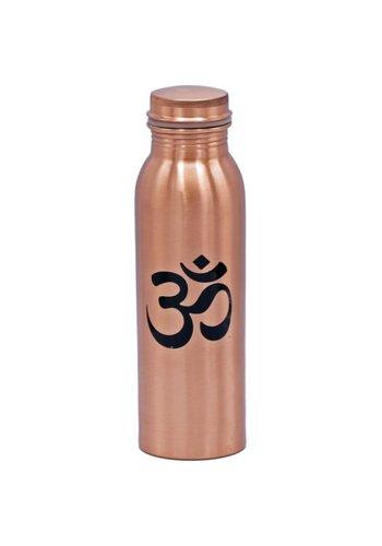 Yogi & Yogini naturals Koperen drinkfles Ohm geprint (750ml)