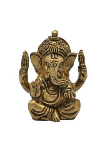 Yogi & Yogini naturals Ganesha messing minibeeldje (5 cm)