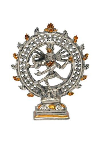 Yogi & Yogini naturals Shiva Nataraja messing dubbele ring tweekleurig (15 cm)