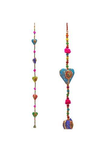 Yogi & yogini Decoratieve slinger Hartjes (80 cm)