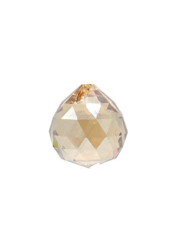 Yogi & Yogini naturals Regenboogkristal bol champagne kleur AAA kwaliteit (3 cm)