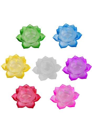 Yogi & Yogini naturals Set van 7 Sfeerlichten Lotus glas