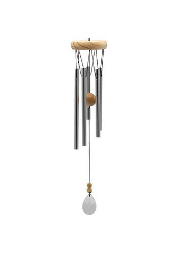 Yogi & Yogini naturals Windorgel rond vijf staafjes hout kristal windvanger