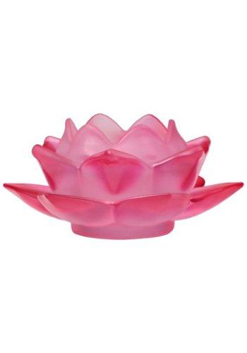 Yogi & Yogini naturals Sfeerlicht Lotus glas rood (5.5x12 cm)