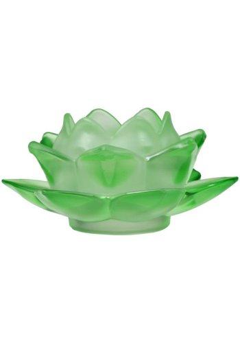 Yogi & Yogini naturals Sfeerlicht Lotus glas groen (5.5x12 cm)