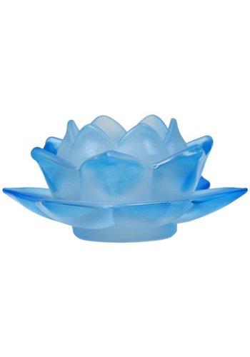 Yogi & Yogini naturals Sfeerlicht Lotus glas blauw (5.5x12 cm)