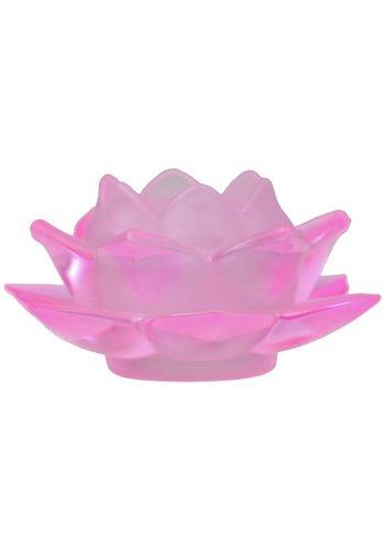 Yogi & Yogini naturals Sfeerlicht Lotus glas roze (5.5x12 cm)