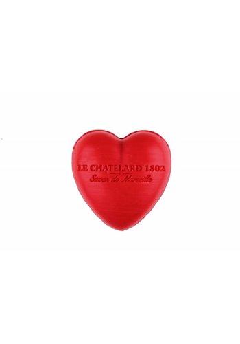 Le Chatelard 1802 Hartvormig Marseille gastenzeepje Rood Fruit (25 gram)
