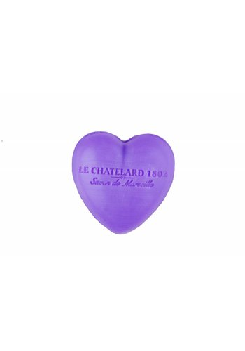 Le Chatelard 1802 Hartvormig Marseille gastenzeepje Lavendel  (25 gram)