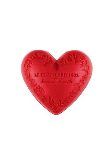 Le Chatelard 1802 Natuurlijke Marseille zeep Rood Fruit hartvormig  (100 gram)