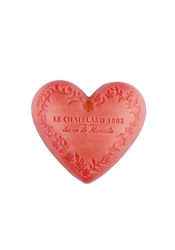 Le Chatelard 1802 Natuurlijke Marseille zeep Roze Jasmijn hartvormig (100 gram)