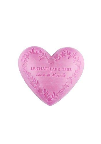 Le Chatelard 1802 Natuurlijke Marseille zeep Pioenroos hartvormig (100 gram)