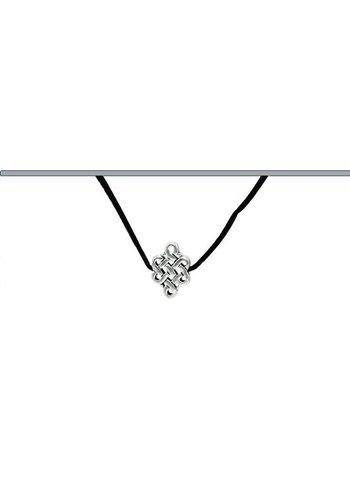 Yogi & Yogini naturals Hanger Eindeloze Knoop met suede koord zwart