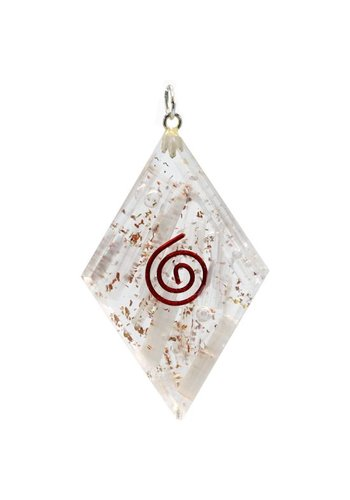 Yogi & Yogini naturals Orgon hanger seleniet diamantvormig